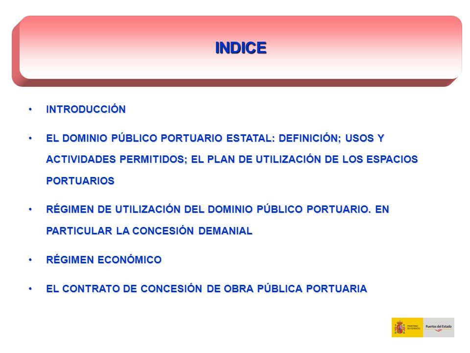 Legislación aplicable:Legislación aplicable: - Ley 48/2003, de 26 de noviembre, de régimen económico y de prestación de servicios de los puertos de interés general.