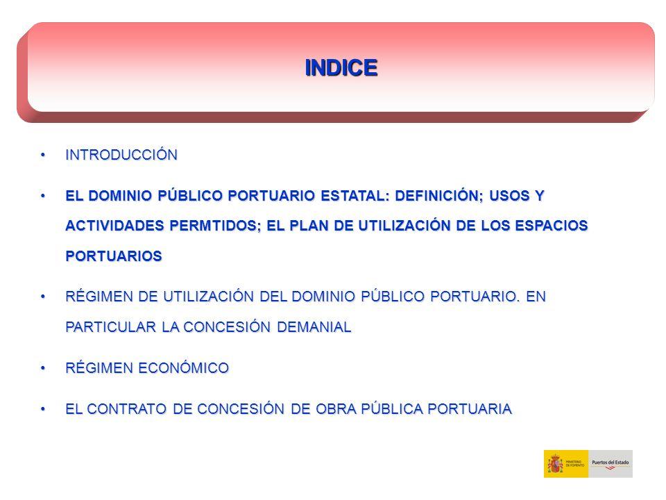 RÉGIMEN DE UTILIZACIÓN DEL DOMINIO PÚBLICO PORTUARIO.