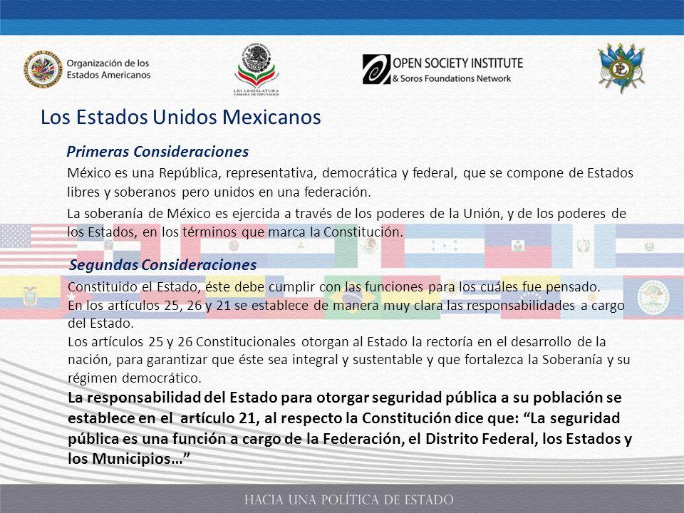 México es una República, representativa, democrática y federal, que se compone de Estados libres y soberanos pero unidos en una federación. La soberan