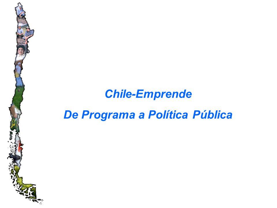Chile-Emprende De Programa a Política Pública