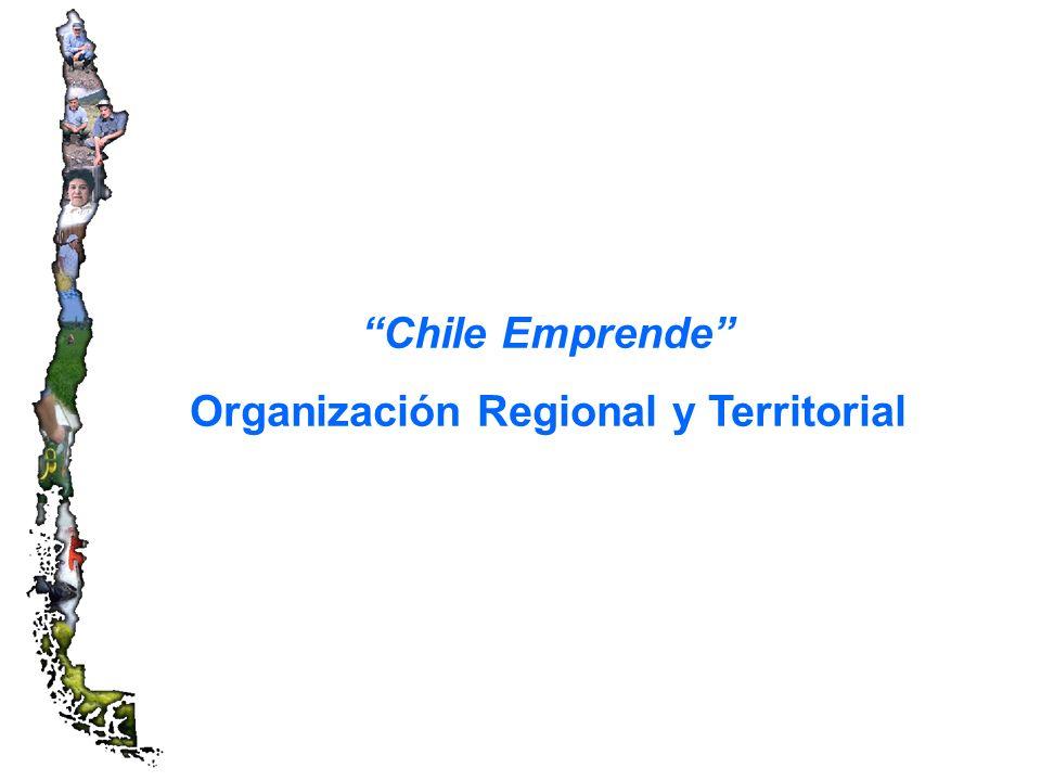 Chile Emprende Organización Regional y Territorial