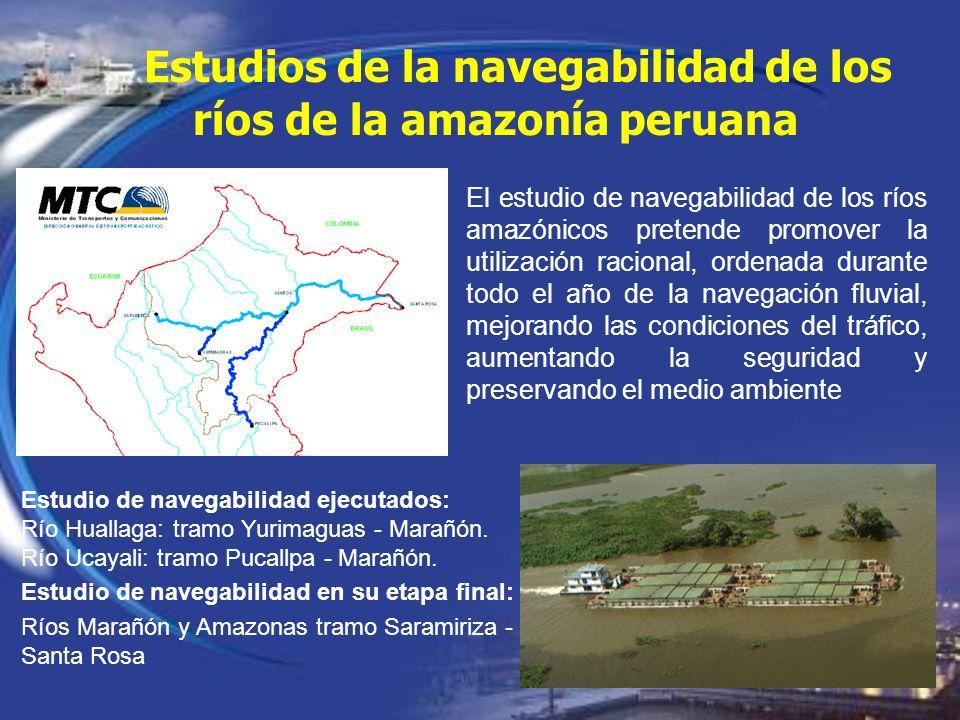 Estudios de la navegabilidad de los ríos de la amazonía peruana El estudio de navegabilidad de los ríos amazónicos pretende promover la utilización ra