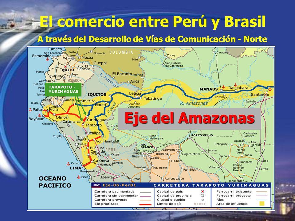 El comercio entre Perú y Brasil Eje del Amazonas A través del Desarrollo de Vías de Comunicación - Norte