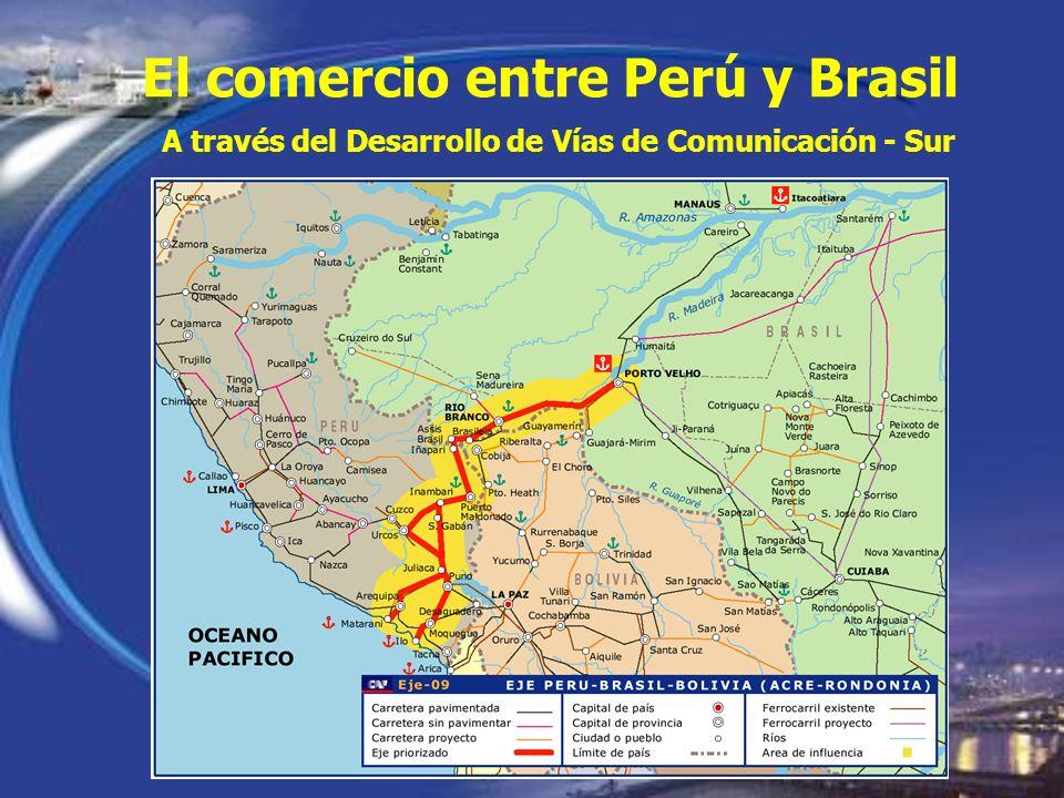 El comercio entre Perú y Brasil A través del Desarrollo de Vías de Comunicación - Sur