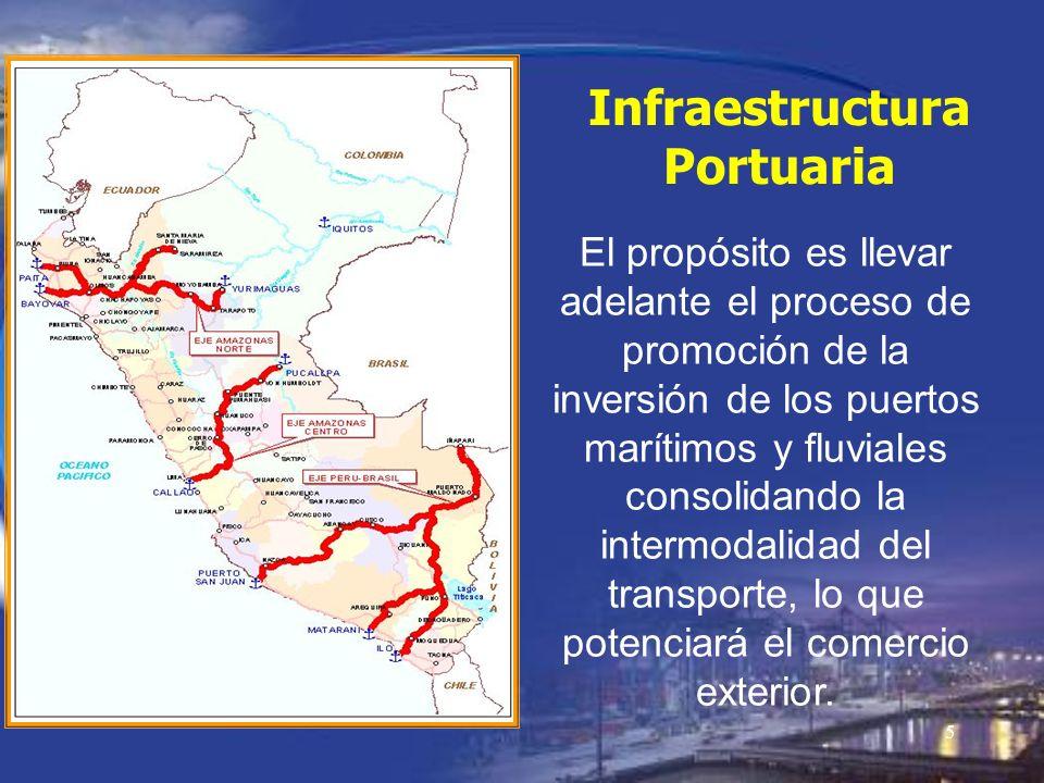 5 El propósito es llevar adelante el proceso de promoción de la inversión de los puertos marítimos y fluviales consolidando la intermodalidad del tran
