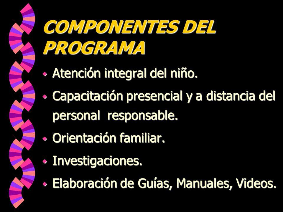 LOGROS w Pertinencia del Programa.w Mayor nivel de logros en los participantes.