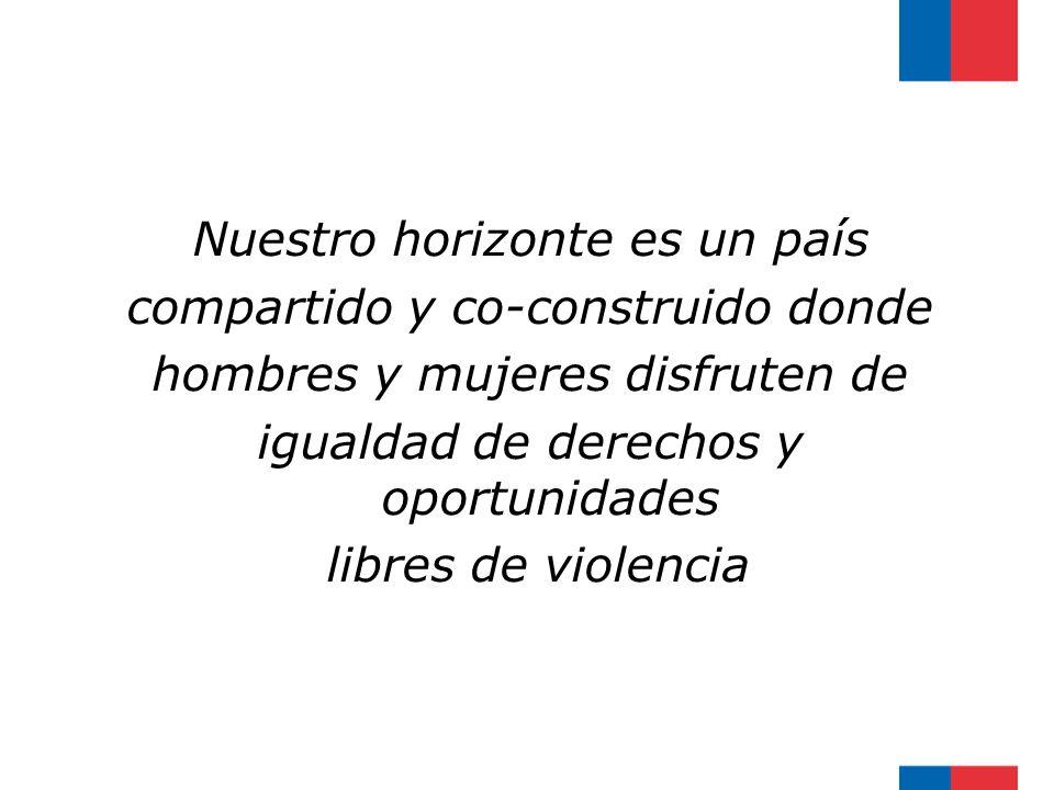 Nuestro horizonte es un país compartido y co-construido donde hombres y mujeres disfruten de igualdad de derechos y oportunidades libres de violencia