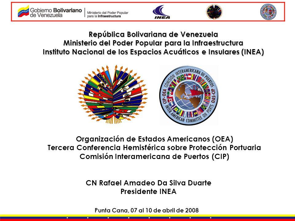 República Bolivariana de Venezuela Ministerio del Poder Popular para la Infraestructura Instituto Nacional de los Espacios Acuáticos e Insulares (INEA