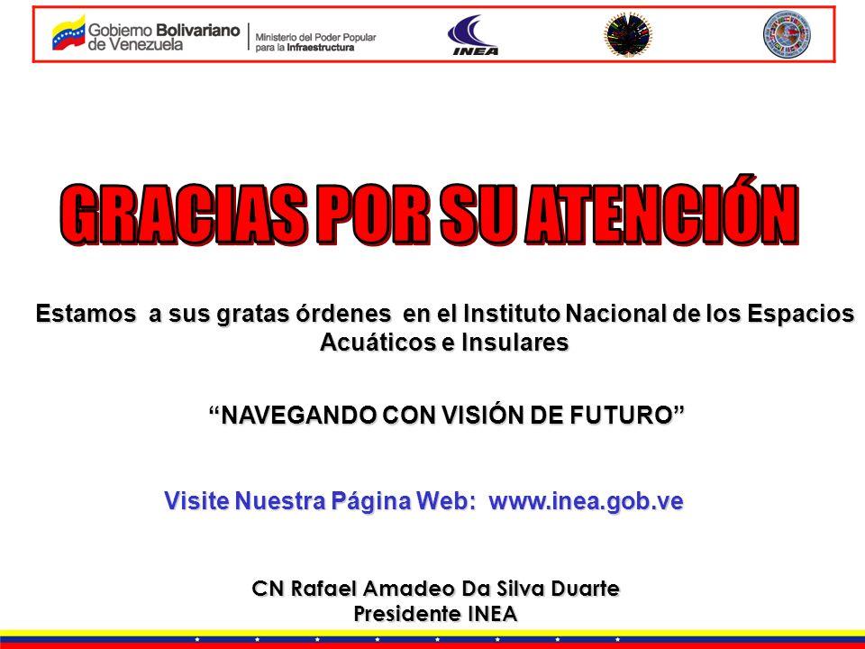 CN Rafael Amadeo Da Silva Duarte Presidente INEA Estamos a sus gratas órdenes en el Instituto Nacional de los Espacios Acuáticos e Insulares Visite Nu