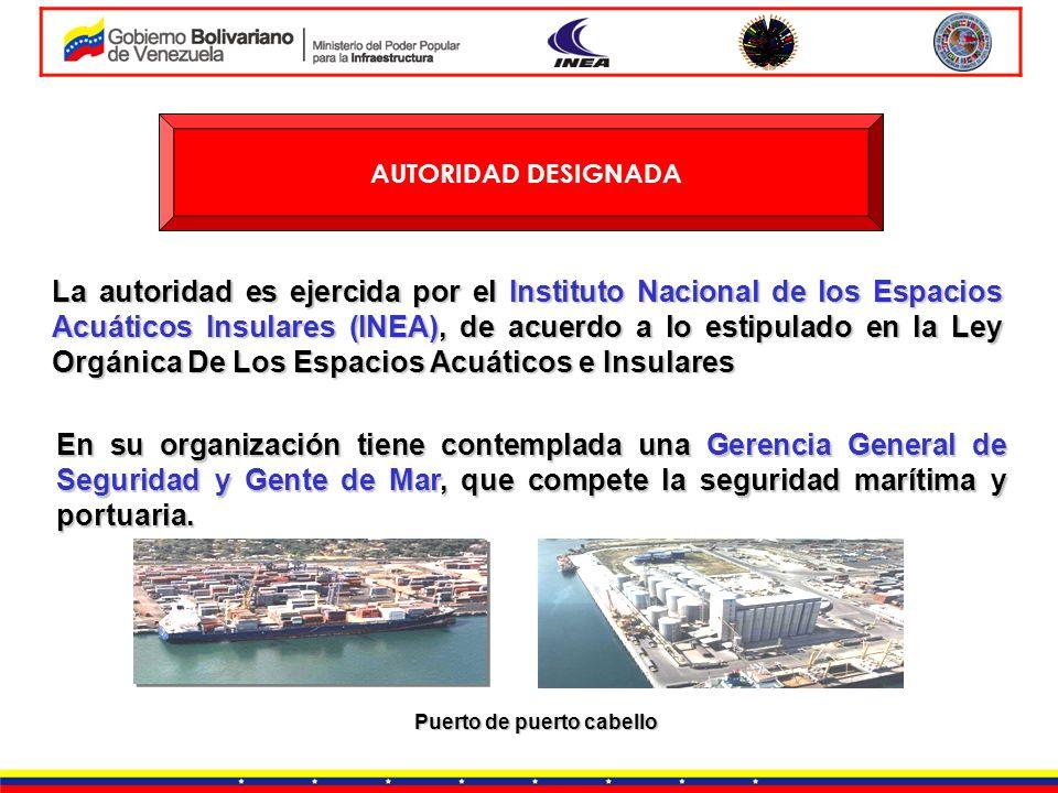 AUTORIDAD DESIGNADA La autoridad es ejercida por el Instituto Nacional de los Espacios Acuáticos Insulares (INEA), de acuerdo a lo estipulado en la Le