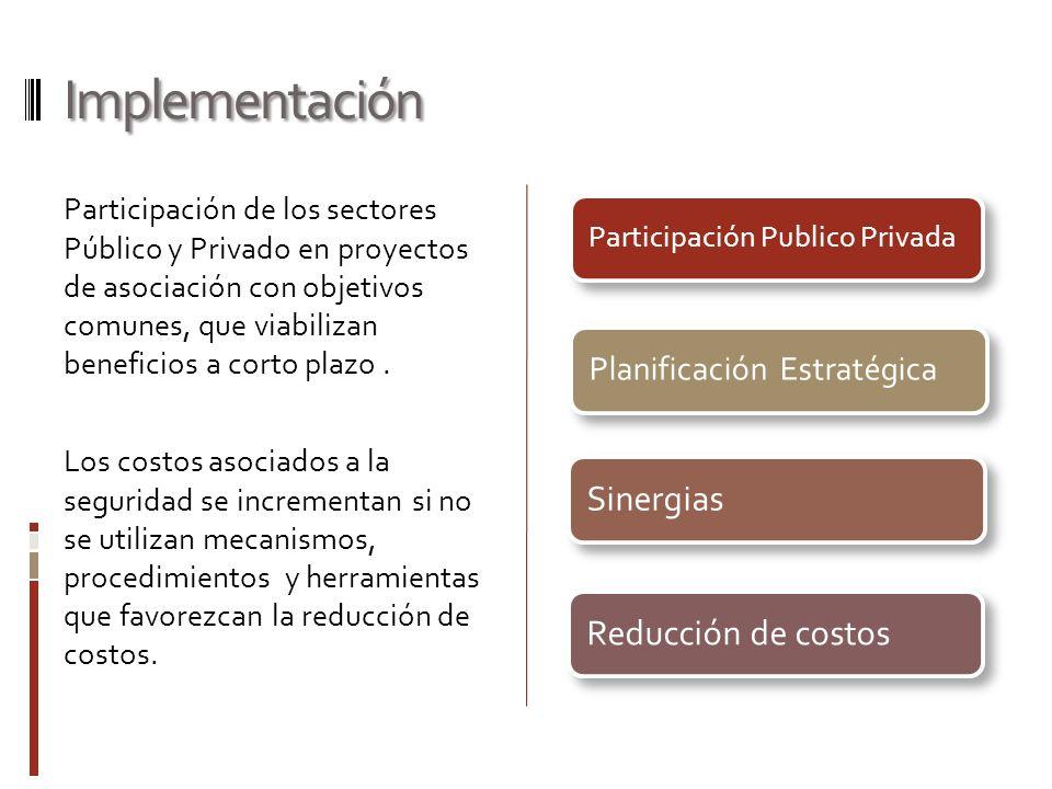 Implementación Participación de los sectores Público y Privado en proyectos de asociación con objetivos comunes, que viabilizan beneficios a corto pla