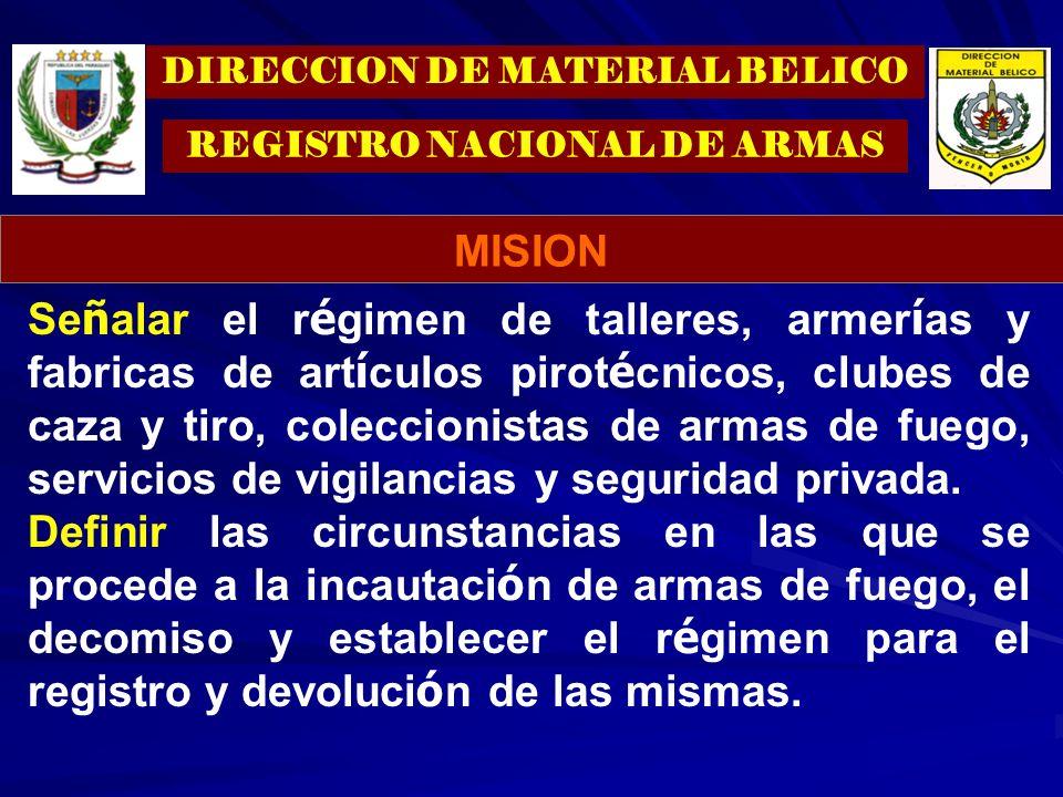 TENENCIA DE ARMAS.TENENCIA DE ARMAS. IMPORTADORES DE ARMAS Y MUNICIONES.