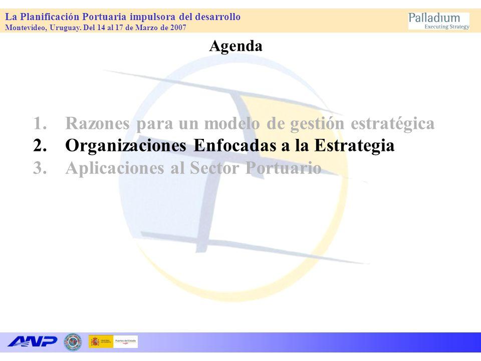 La Planificación Portuaria impulsora del desarrollo Montevideo, Uruguay. Del 14 al 17 de Marzo de 2007 1.Razones para un modelo de gestión estratégica
