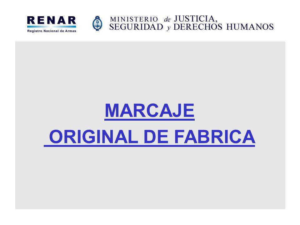 MARCAJE ORIGINAL DE FABRICA