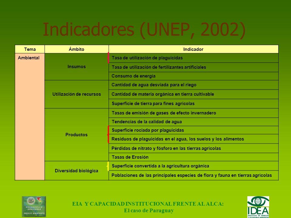 EIA Y CAPACIDAD INSTITUCIONAL FRENTE AL ALCA: El caso de Paraguay Metodología Criterio de Cadena de Producto Etapas evaluadas: