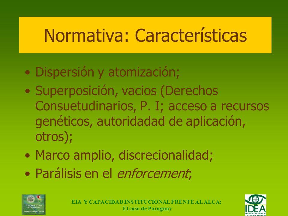EIA Y CAPACIDAD INSTITUCIONAL FRENTE AL ALCA: El caso de Paraguay Obj.3 Transparencia y eficiencia en las gestiones CapacidadQuien NecesitaMetodología