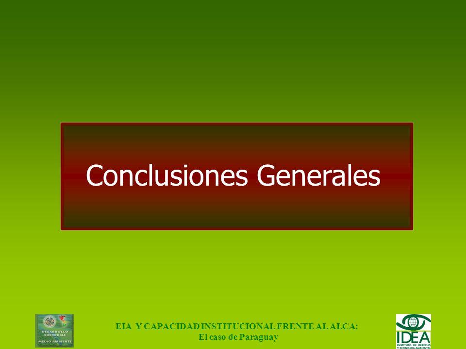 EIA Y CAPACIDAD INSTITUCIONAL FRENTE AL ALCA: El caso de Paraguay Apreciaciones Finales Reformas Macro Reformas Administrativas; Reforma Funcional; Re