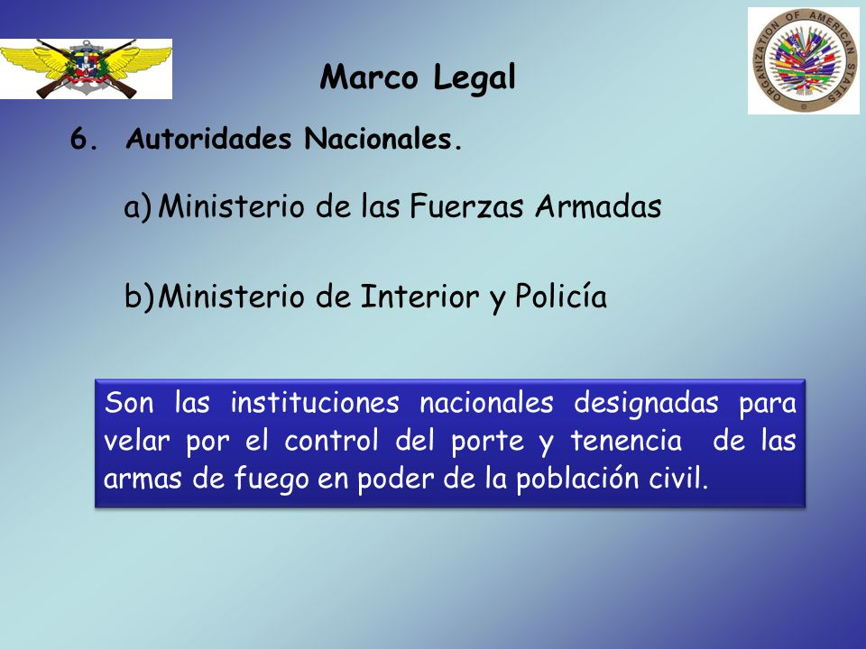 Marco Legal 6.Autoridades Nacionales.