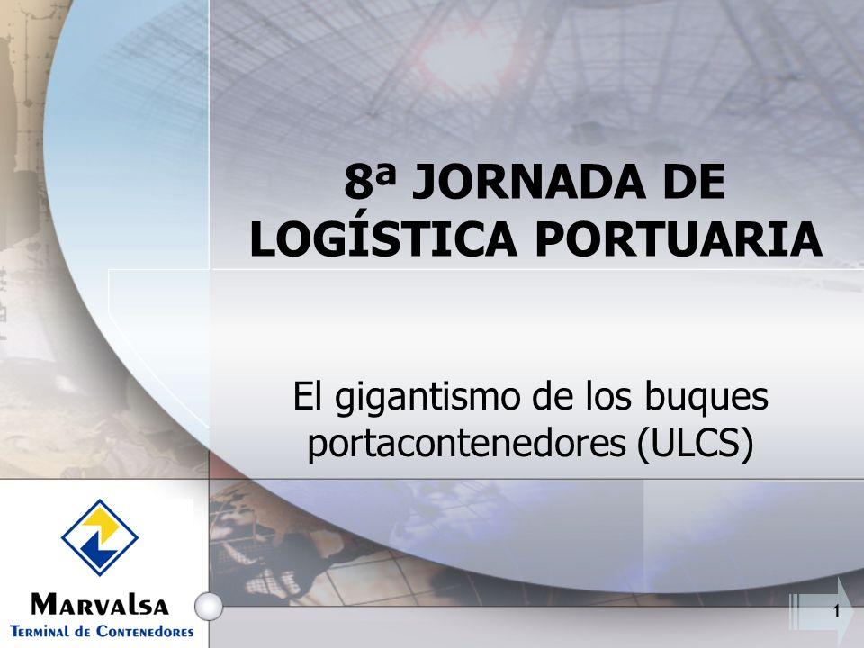 1 8ª JORNADA DE LOGÍSTICA PORTUARIA El gigantismo de los buques portacontenedores (ULCS)