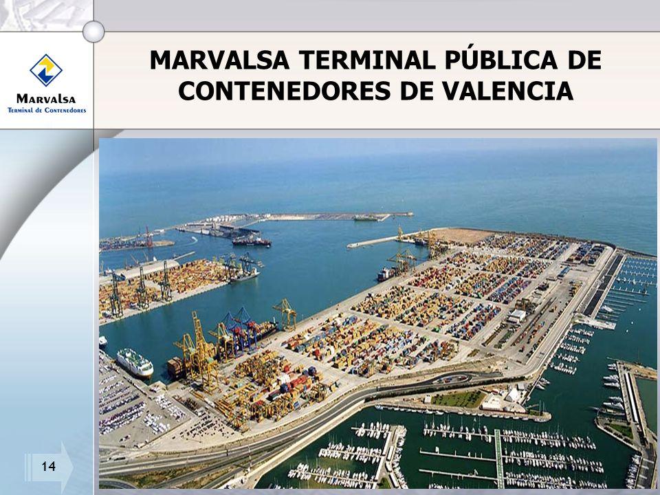 14 MARVALSA TERMINAL PÚBLICA DE CONTENEDORES DE VALENCIA