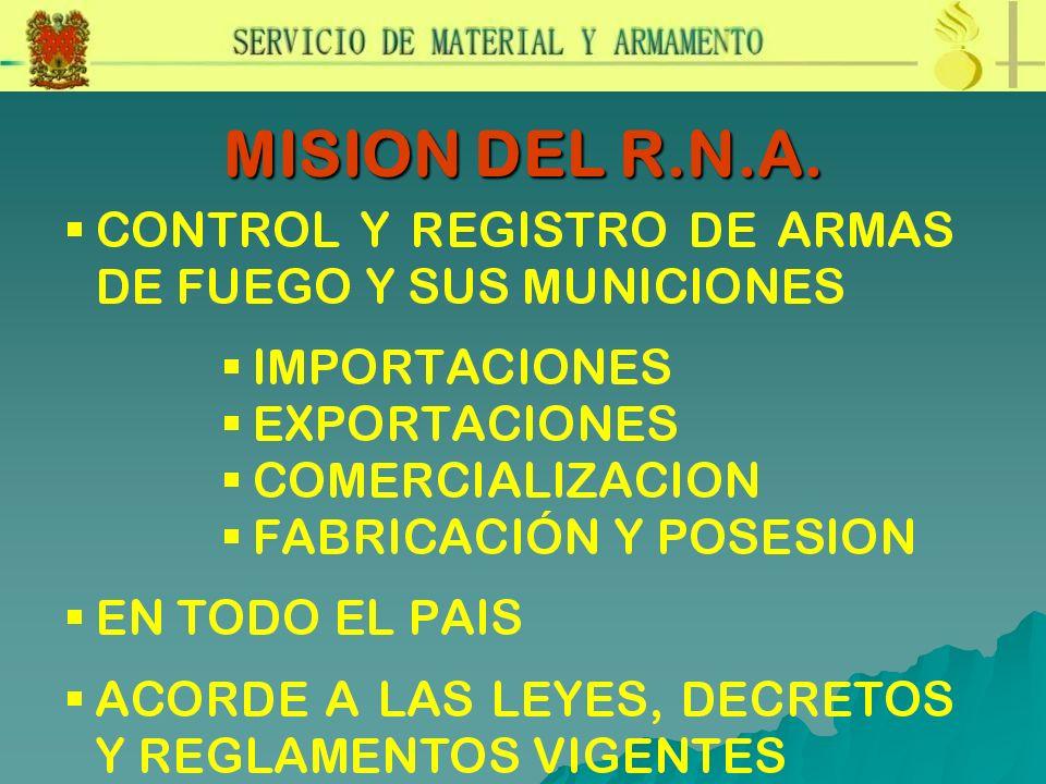 MISION DEL R.N.A.