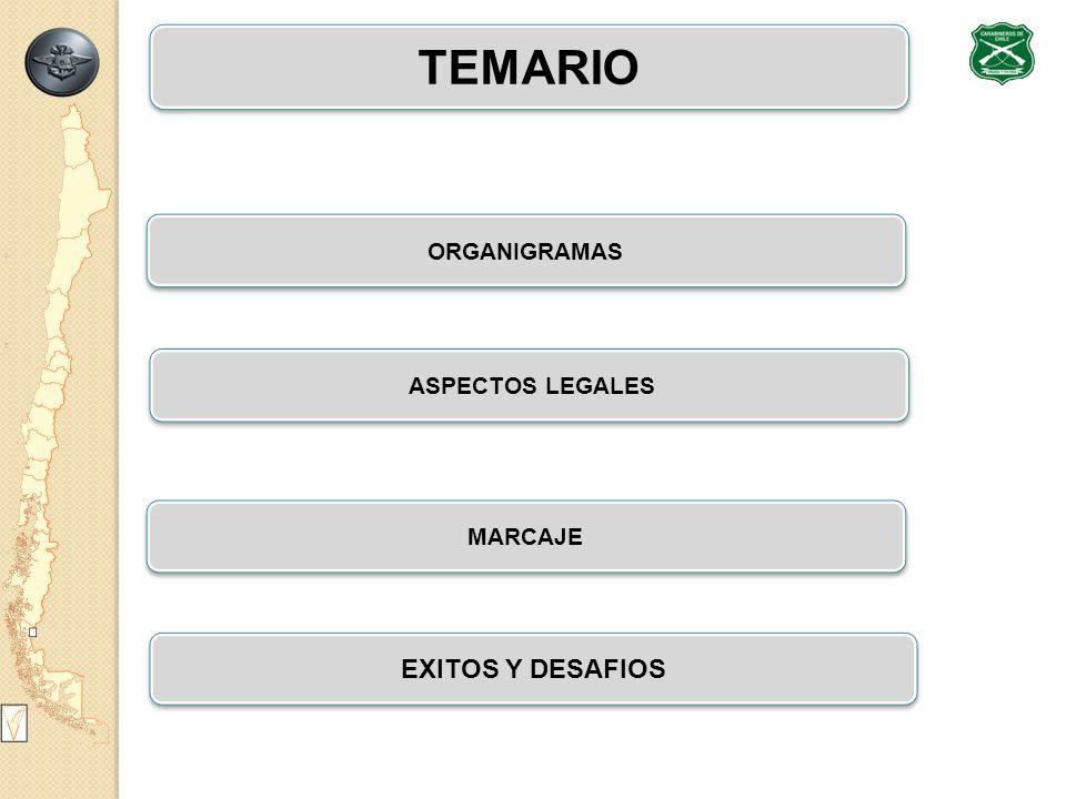 TEMARIO ASPECTOS LEGALES EXITOS Y DESAFIOS 2/29 MARCAJE ORGANIGRAMAS