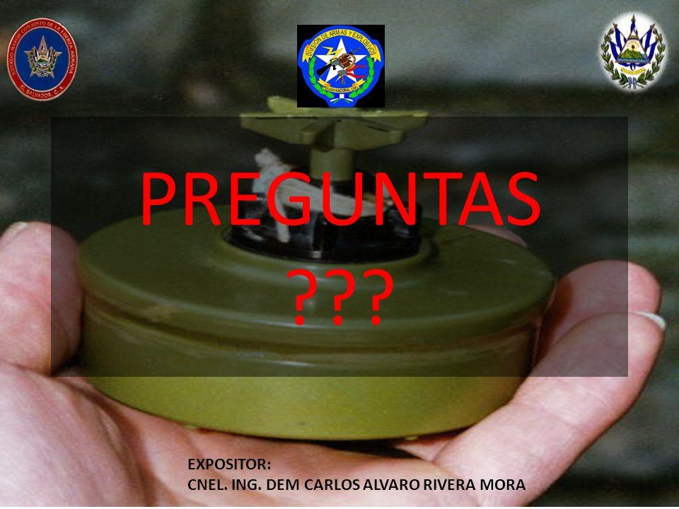 PREGUNTAS ??? EXPOSITOR: CNEL. ING. DEM CARLOS ALVARO RIVERA MORA