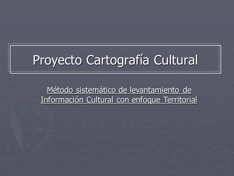 Proyecto Cartografía Cultural Método sistemático de levantamiento de Información Cultural con enfoque Territorial