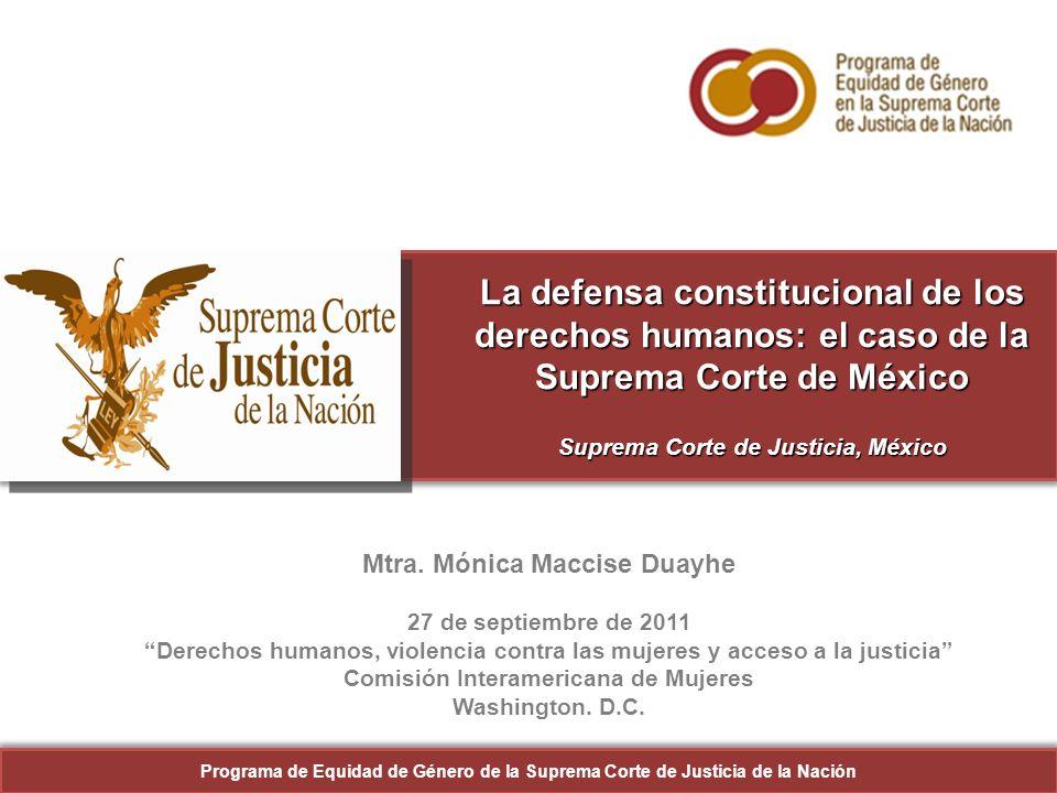 22 Resultados 101 personas asistentes Programa de Equidad de Género de la Suprema Corte de Justicia de la Nación 22