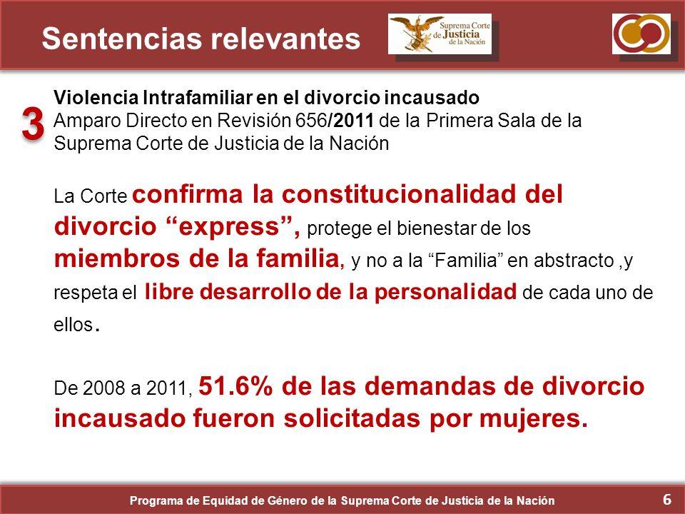 7 Sentencias relevantes Participación política de las mujeres.