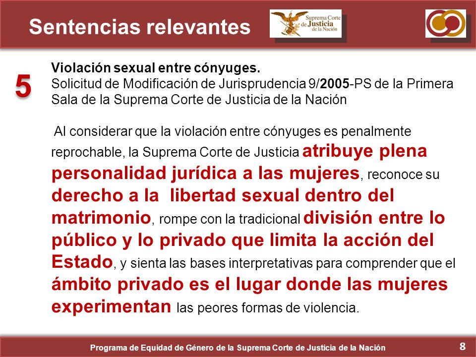9 Sentencias relevantes Interrupción Legal del Embarazo.