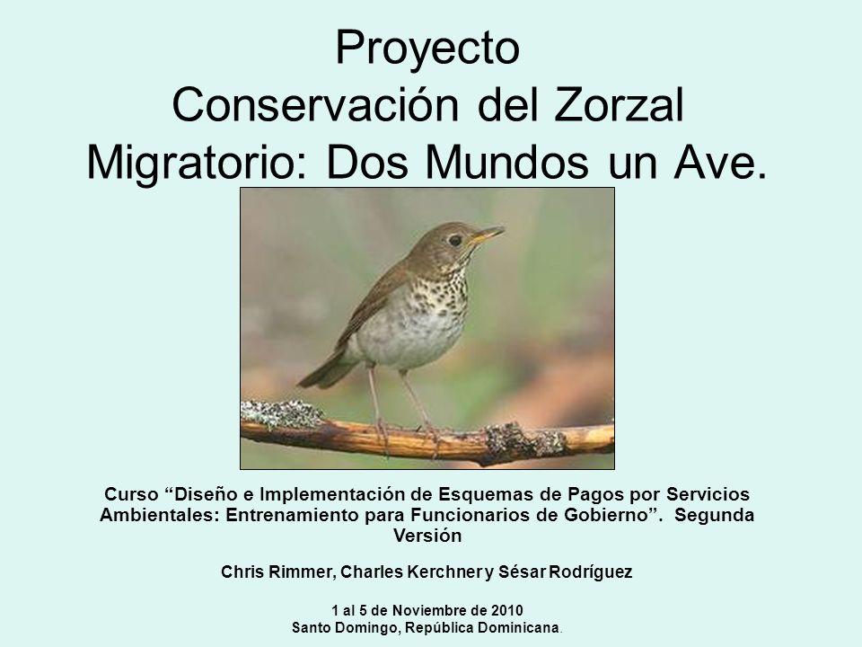 Ruta de Migración Distribución restring Ida Perdida de habitat Limitaciones Ecológicas Requiere hábitat especifico Población pequeña = Vulnerable a nivel global