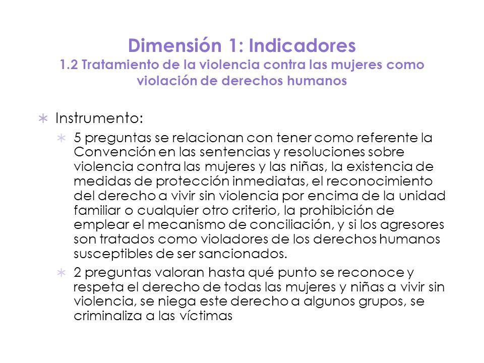 Dimensión 1: Indicadores 1.2 Tratamiento de la violencia contra las mujeres como violación de derechos humanos Instrumento: 5 preguntas se relacionan