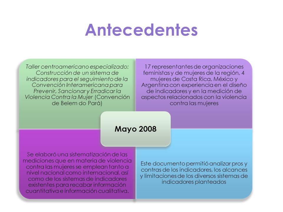 Antecedentes Taller centroamericano especializado: Construcción de un sistema de indicadores para el seguimiento de la Convención Interamericana para