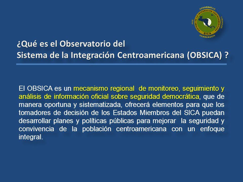 ¿Qué es el Observatorio del Sistema de la Integración Centroamericana (OBSICA) ? ¿Qué es el Observatorio del Sistema de la Integración Centroamericana