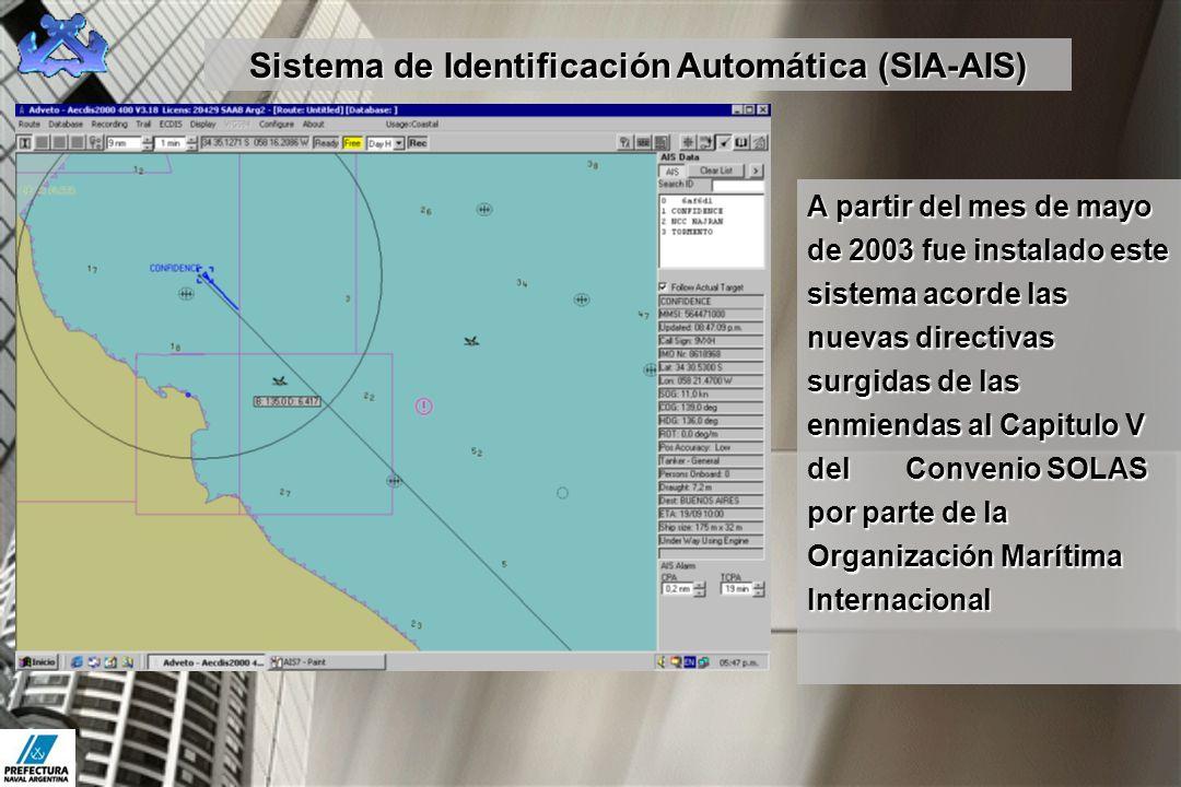 A partir del mes de mayo de 2003 fue instalado este sistema acorde las nuevas directivas surgidas de las enmiendas al Capitulo V del Convenio SOLAS po