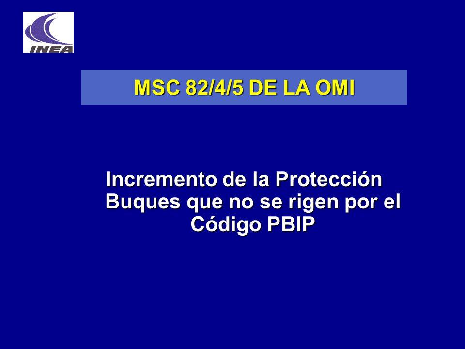Incremento de la Protección Buques que no se rigen por el Código PBIP MSC 82/4/5 DE LA OMI