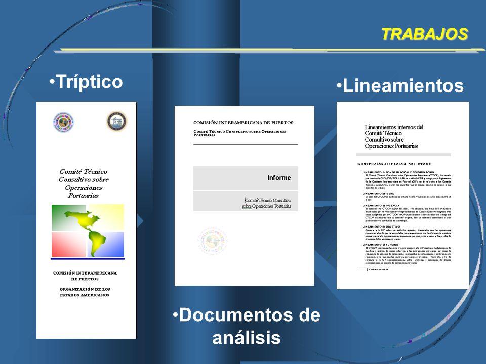 Lineamientos TRABAJOS Tríptico Documentos de análisis
