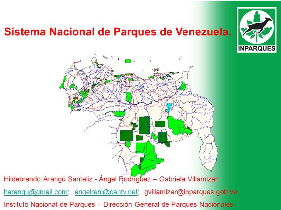 Sistema Nacional de Parques de Venezuela. Hildebrando Arangú Santeliz - Ángel Rodríguez – Gabriela Villamizar harangu@gmail.comharangu@gmail.com; ange