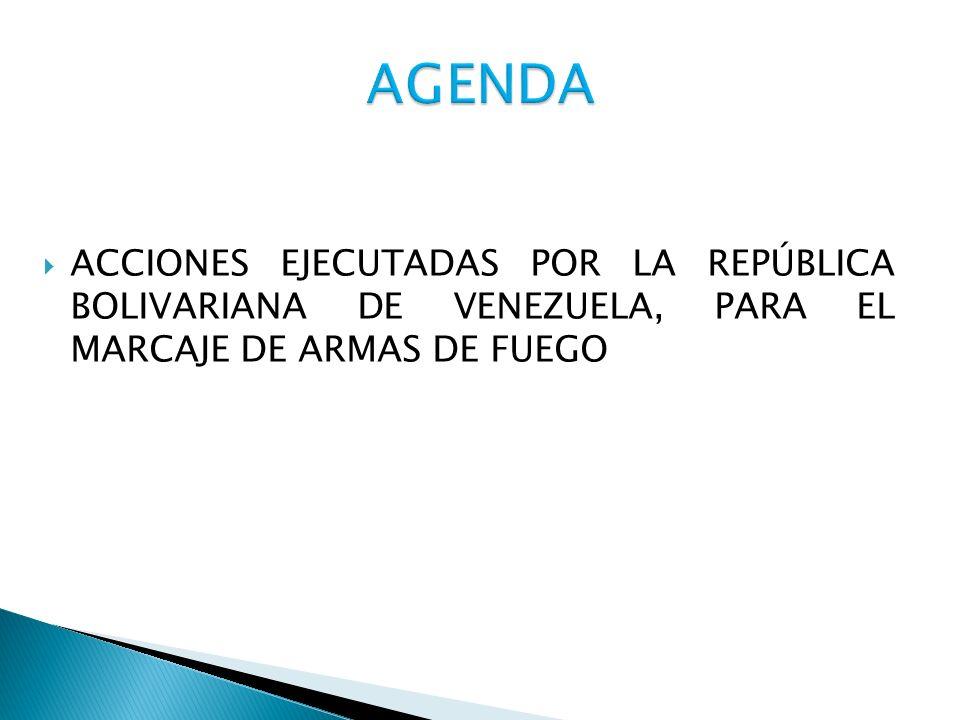 RECIBIR, CLASIFICAR, ALMACENAR, ENTREGAR Y CONTROLAR EL MATERIAL DE GUERRA CLASE VII- M, PROVENIENTE DEL MINISTERIO DEL PODER POPULAR PARA LA DEFENSA, COMPONENTES, INSTITUCIONES GUBERNAMENTALES, EMPRESAS DE VIGILANCIA Y OTROS PARA SU RESPECTIVO MARCAJE MANTENIMIENTO Y REPARACION.