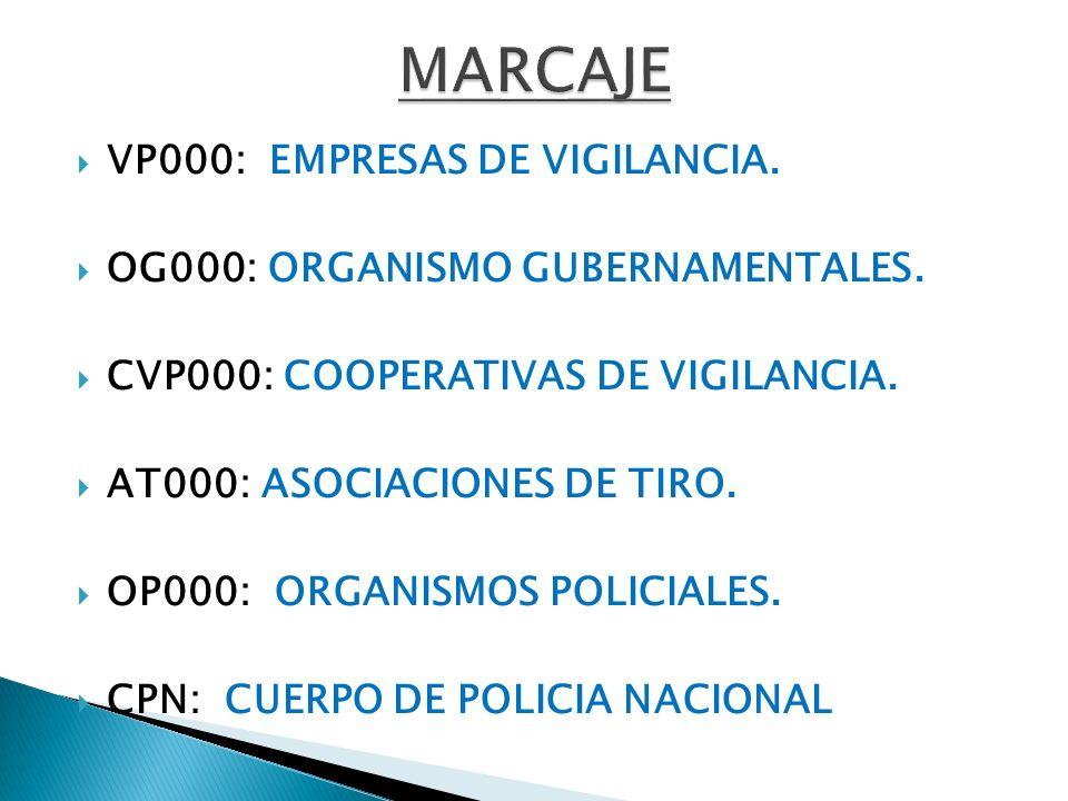 SOLICITUD DE AUTORIZACIÓN DE TRASLADO DE ARMAS.SOLICIITUD DE MARCAJE DE ARMAS.