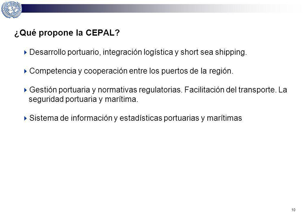 8 ¿La situación futura de los puertos podría estar condicionada por costos crecientes y de ingresos decrecientes? Ello exige una atención al problema