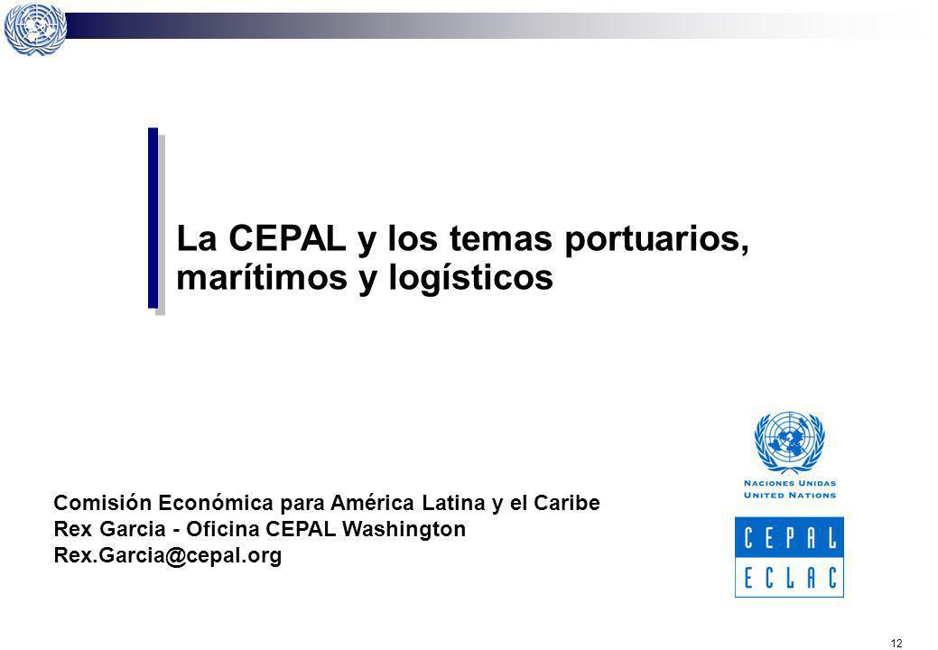10 ¿Qué propone la CEPAL? Desarrollo portuario, integración logística y short sea shipping. Competencia y cooperación entre los puertos de la región.