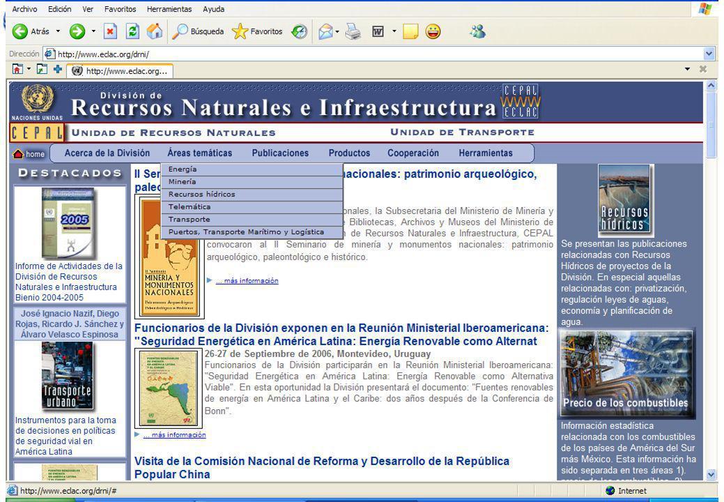 Client Logo La CEPAL y los temas portuarios, marítimos y logísticos II Conferencia Hemisférica sobre Protección Portuaria Puerto la Cruz, Venezuela Oc