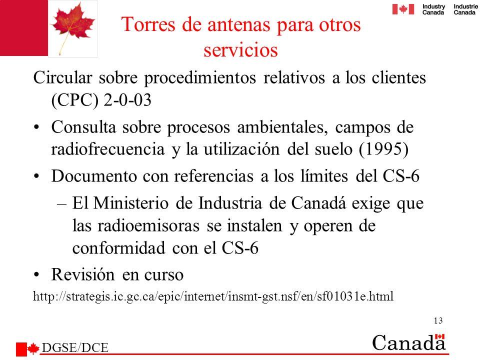 13 Torres de antenas para otros servicios Circular sobre procedimientos relativos a los clientes (CPC) 2-0-03 Consulta sobre procesos ambientales, cam