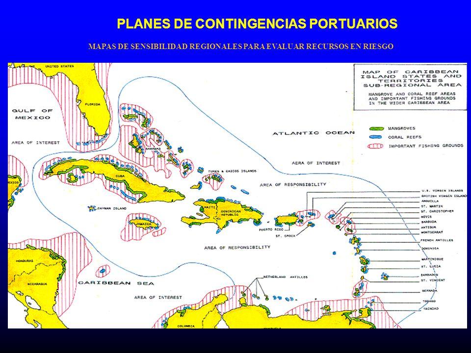PLANES DE CONTINGENCIAS PORTUARIOS MAPAS DE SENSIBILIDAD REGIONALES PARA EVALUAR RECURSOS EN RIESGO