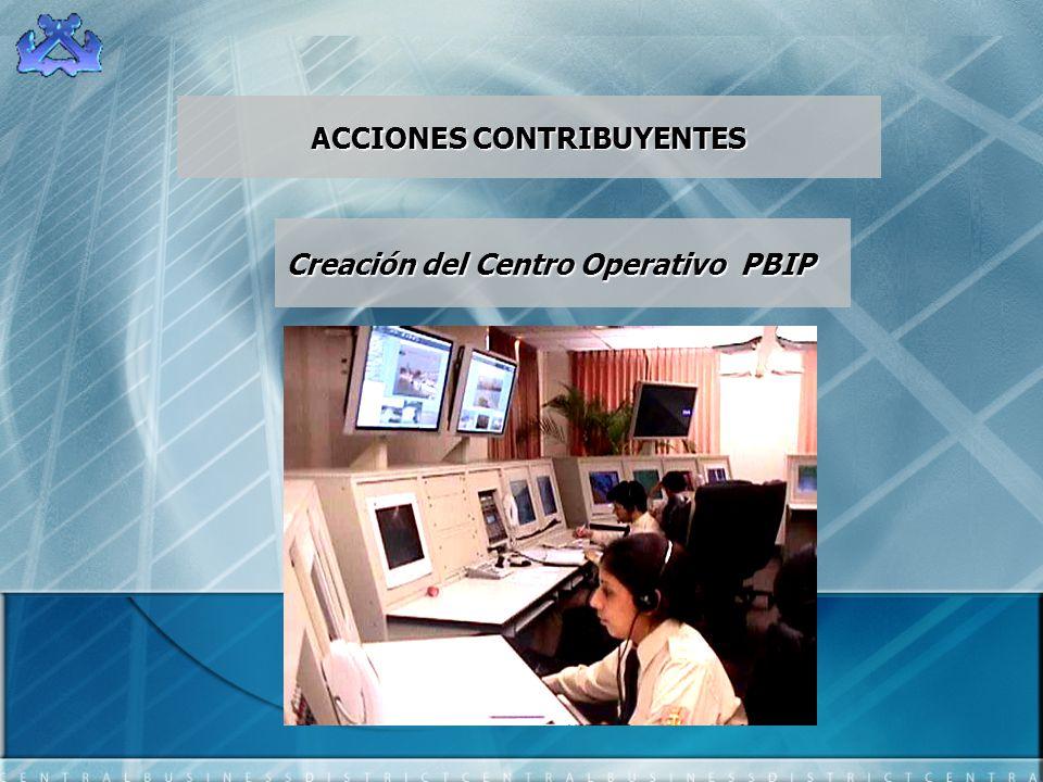 ACCIONES CONTRIBUYENTES Creación del Centro Operativo PBIP