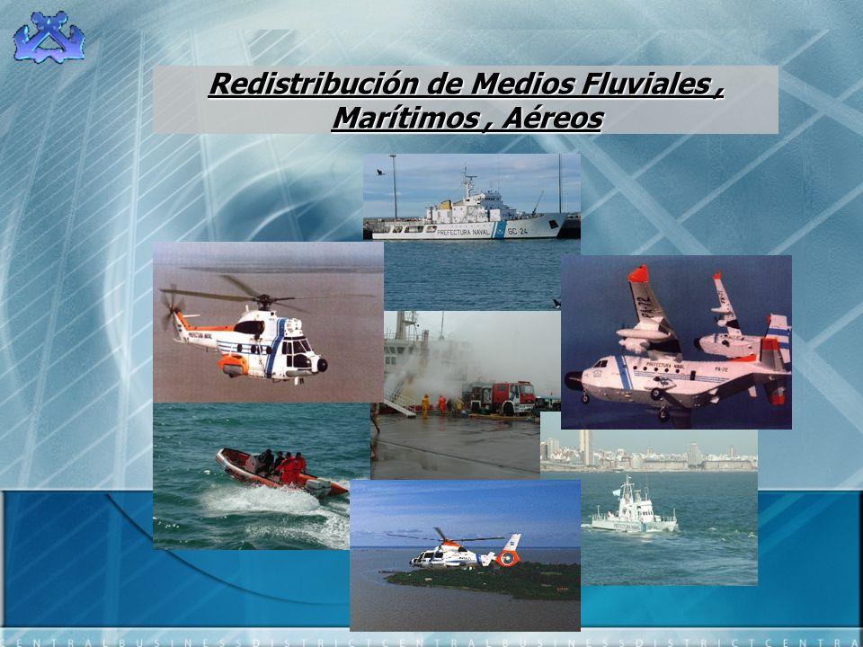 Redistribución de Medios Fluviales, Marítimos, Aéreos