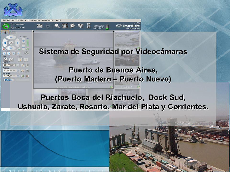 Sistema de Seguridad por Videocámaras Puerto de Buenos Aires, (Puerto Madero – Puerto Nuevo) Puertos Boca del Riachuelo, Dock Sud, Ushuaia, Zarate, Ro