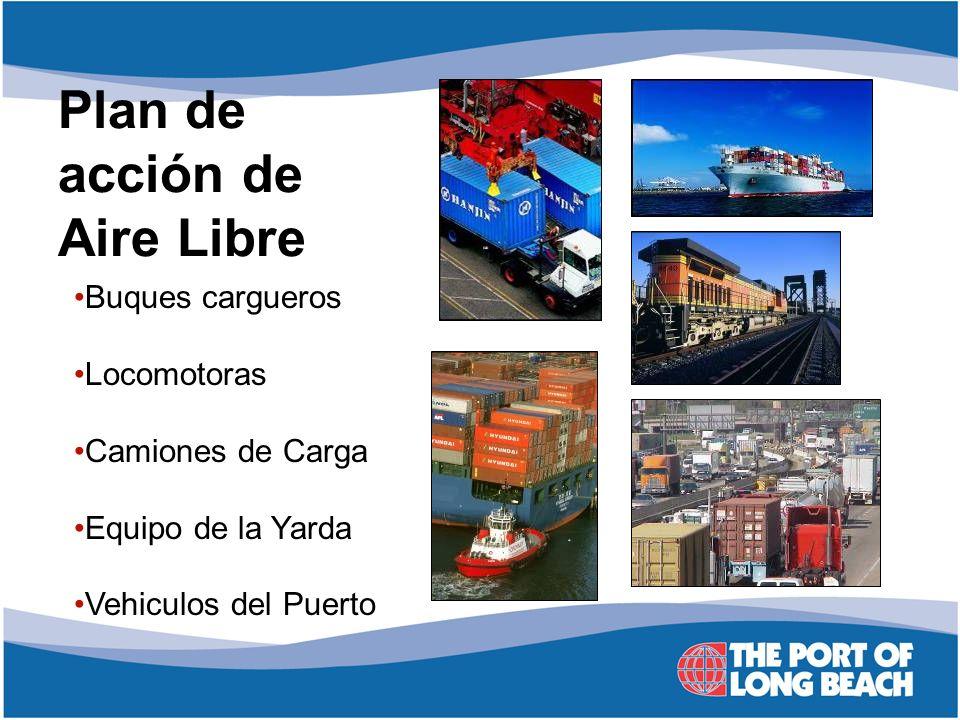 Plan de acción de Aire Libre Buques cargueros Locomotoras Camiones de Carga Equipo de la Yarda Vehiculos del Puerto